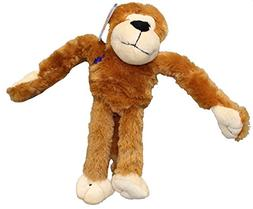 Boss Pet 08871 Plush Cuddly Monkey Mover with Squeaker Dog T
