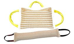 "Bundle 1 - 3 Handle Jute Bite Pillow Firm & 1 - 4"" X 24"" 2 H"