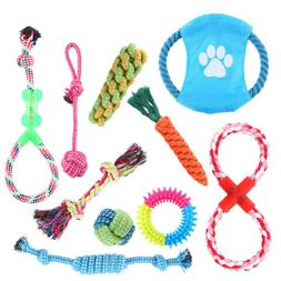 10 PCS Dog Knot Toys Puppy Dog Cat Rope Dumbbell Toys Dogs C