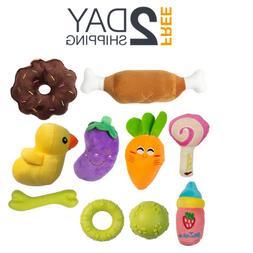 10 Puppy Chew Toys  - Plush Squeaky Dog Toys - Puppy Teethin