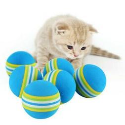 10pcs Pet Cat Kitten Soft Foam Rainbow Play Balls Colorful F