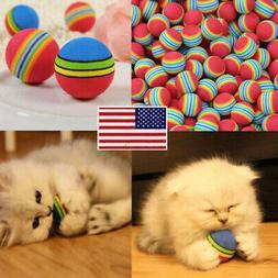 10pcs Pet Cat Kitten Soft Funny Foam Rainbow Play Colorful B