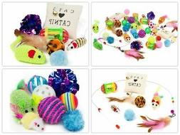 14Pcs Pet Cat Toys Set Bulk Mice Balls Catnip Pet Kitty Kitt