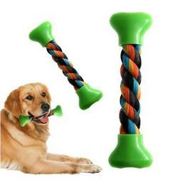 18 cm Puppy Dog Toy Cotton Chew Knot Toy Durable Braided Bon