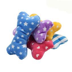 1PC Pet Dog Sound Toys Bone Shape Puppy Cat Chew Squeaker Sq