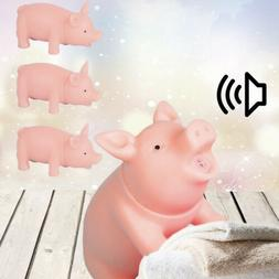 1X NEW Pet Puppy Chew Squeaker Squeaky Rubber Sound Pig Funn