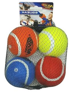 NERF Dog 2.5 in Squeak Tennis Ball Dog Toys Set of 4