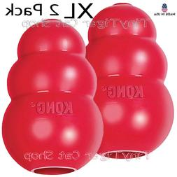 2 KONG CLASSIC Red Dog Toys treat rubber BRAND NEW Made in U