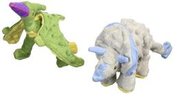 goDog 2 Count Frills Dino Plush Toy & Terry Dino Plush Toy f