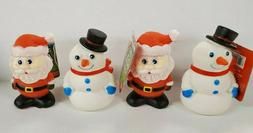 Snowmen AND  Santa Claus Squeaking Dog Toys - You Get All 4