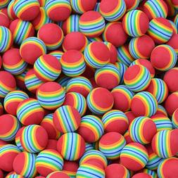 2pcs Small Coloured Pet Cat Kitten Soft Foam Rainbow Play Ba