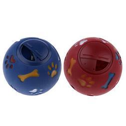 2xL Dog Food Ball Pet Play Feeder Chew Toy Puppy Training Ac