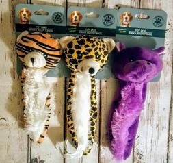 """Dog Toys Lot 8"""" Squeakers Crinkle Plush Squeaky Unstuffed St"""