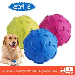 3 Pack Dog Toys Ball Pet Squeaky Toys Trainning Chew Toys fo