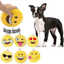 3 Pack Emoji Dog Toys Soft Stuffingless Squeaky Toys For Dog