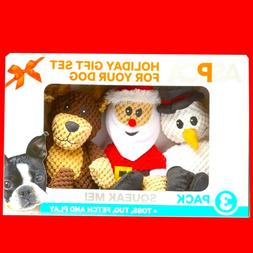 3-Pack Holiday Dog Puppy Squeaker Sound Toy Pet Plush Chew F