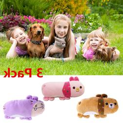 3Pcs Cute Dog Training Toys Sound Toys Biting Animal Toys Pe