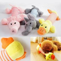 3PCS Cute Soft Pet Puppy Chew Play Squeaker Squeaky Plush So
