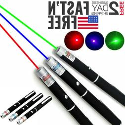 3PCS Green+Red+Blue Purple Laser Pointer Pen Visible Beam Mi