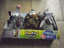 3PK Happy Tails Barnyard Buddies 3 pack of Plush Dog Toys w