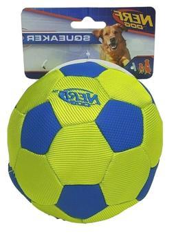 NERF Dog 4.5 in Squeaker Trackshot Nylon Soccer Ball Dog Toy