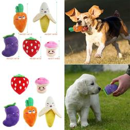 5pcs Squeaky Dog Toys for Small Dogs Fruits and Vegetables P