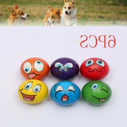 6 Expressions Pet Chew Toys Pet Dog Puppy Play Squeaky Ball