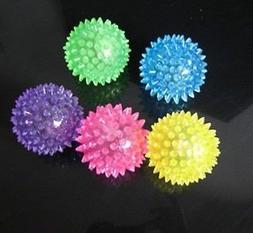 6 PCS Light-Up Spikey Dog / Cat Balls LED Flashing Spiky Bum