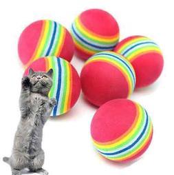6X Small Play Ball Colorful Dog Pet Cat Kitten Soft Foam Rai