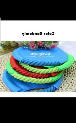 7'' Dog Frisbee Toy Training Throw Cotton Rope Flying Disc P