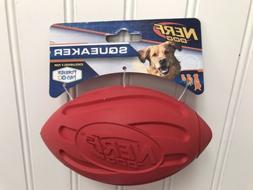 NERF Dog 7 in. Ridged Squeaker Football Dog Toy