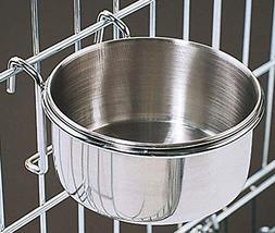 Bonka 800115 Stainless Steel 20 oz Cage Coop Hook Cup Bird D