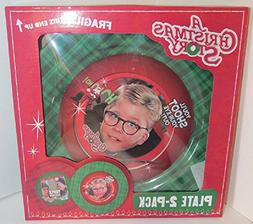 A Christmas Story Plate 2-pack You'll Shoot your Eye Out! &
