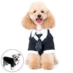 Alfie Pet Petoga Couture - Oscar Formal Tuxedo Black Tie Red