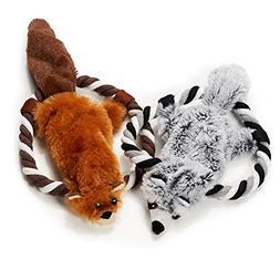 Barkawaytoys Pet Plush Toys- Set of 2 Plush Toys for Dogs- S