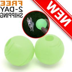 Chew King Ball, 2 Piece Glowing Fetch Ball, Dog Ball Toys, F