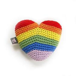 Dogo - Rainbow Heart Dog Toy