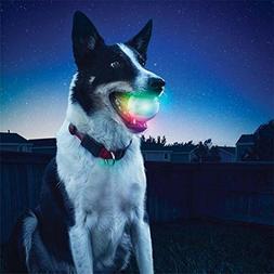 Ikevan 2018 LED Glowing Streak Dog Ball Blinking Pet Toys Li
