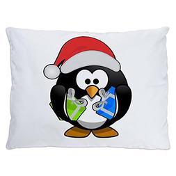 Indoor Luxury Plush Dog Bed Little Round Penguin - Christmas