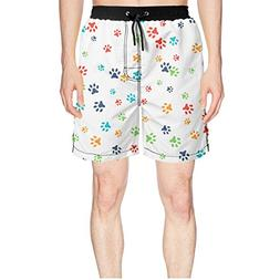Juliuse Marthar Men's Dog Paw Dog Lovers Gifts Swim Trunks Q