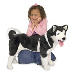 Melissa & Doug Giant Siberian Husky - Lifelike Stuffed Anima