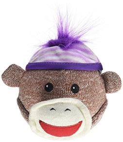 Multipet Sock Monkey Squeaker Head 4in