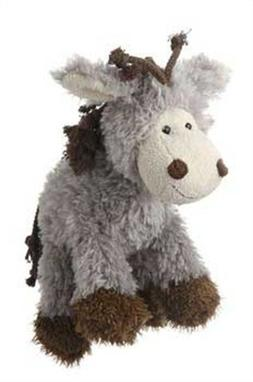 Multipet's Mane Event 11-Inch Donkey Plush Dog Toy by Multi