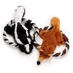 Pet Plush Toys- Set of 2 Plush Toys for Dogs- Squeak Animals
