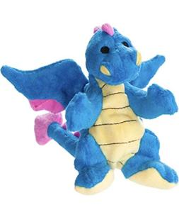 TOP PAW Blue Dragon Squeaker Toy w/Tuff Chewguard ~Small~
