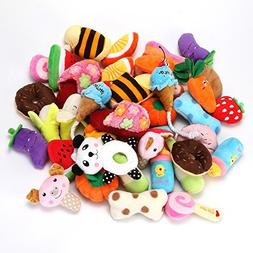YOWOO Squeaky Plush Dog Toys All Kinds of Fruit Plush Toys P