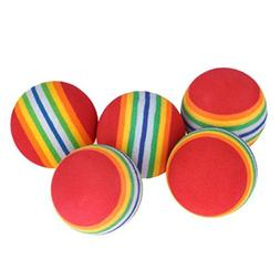 Yeefant Rainbow Stripe Foam Sponge Practice Golf Balls Swing
