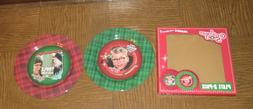 A CHRISTMAS STORY PLATE 2 PACK - YOU'LL SHOOT YOUR EYE OUT I