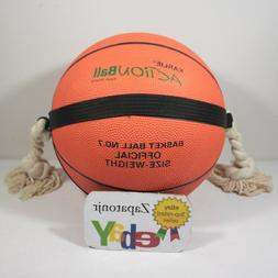 """Action Dog Toy Basketball Bouncy Ball Large 9.6"""" Chew toy Pl"""