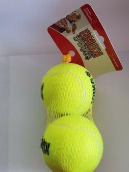 Kong Airdog Squeakair Tennis Ball Large 2pk